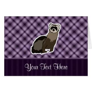 紫色のフェレット カード