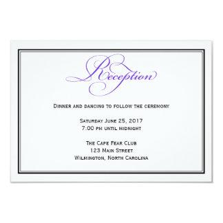 紫色のフォーマルな原稿の結婚披露宴の明細カード 8.9 X 12.7 インビテーションカード
