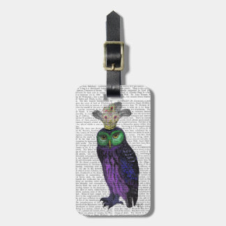 紫色のフクロウ ラゲッジタグ