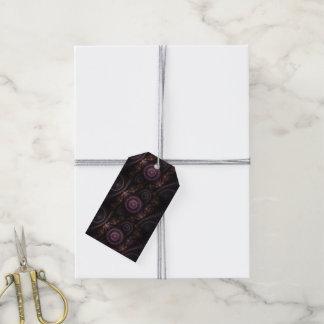 紫色のフラクタルのギフトのラベル ギフトタグ