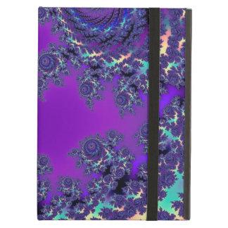 紫色のフラクタルのモノグラムの箱および袖 iPad AIRケース