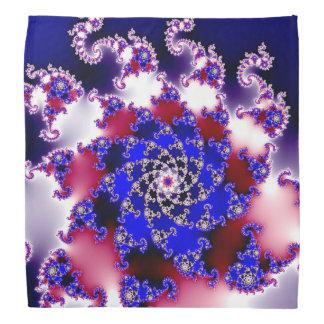 紫色のフラクタルの星 バンダナ