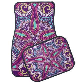 紫色のフラクタルの曼荼羅のヒトデのオーナメントパターン カーマット