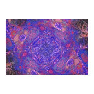 紫色のフラクタル キャンバスプリント