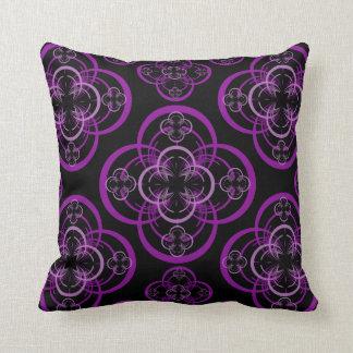 紫色のフラクタル クッション