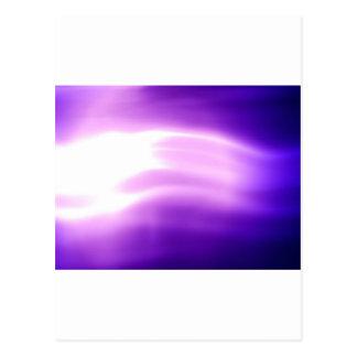 紫色のフラッシュ ポストカード