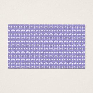 紫色のフラミンゴパターン 名刺