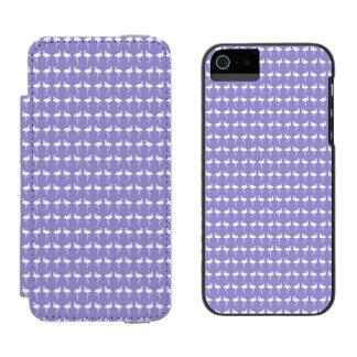 紫色のフラミンゴパターン iPhone SE/5/5sウォレットケース