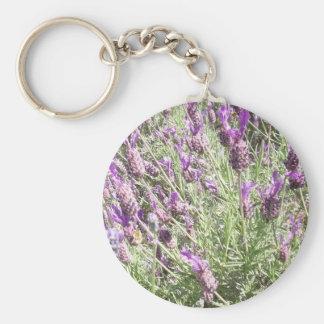 紫色のフランスのなラベンダーの花 キーホルダー