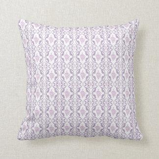 紫色のブドウつる植物パターン クッション
