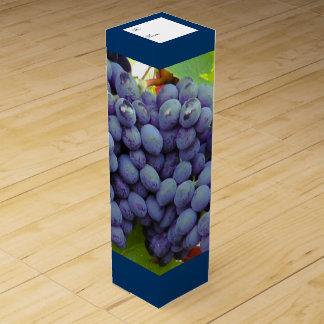 紫色のブドウのカスタムなワイン箱 ワインギフトボックス