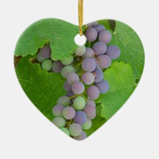 紫色のブドウの束 セラミックオーナメント
