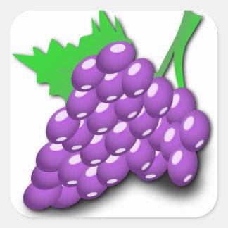 紫色のブドウの集り スクエアシール