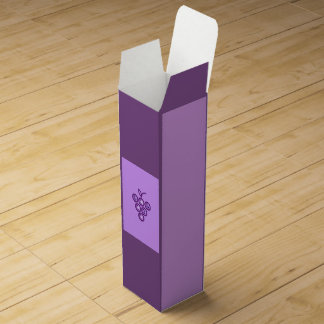 紫色のブドウ ワインギフトボックス
