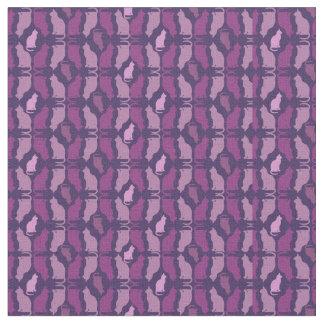 紫色のブレンド猫パターンデザイナー生地 ファブリック