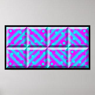 紫色のブロックプリント ポスター