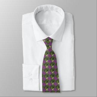 紫色のブロッコリーのタイ ネクタイ
