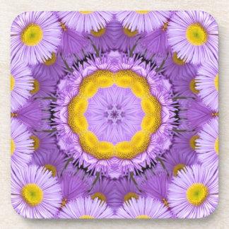 紫色のプラスチックコースターでかわいらしい コースター
