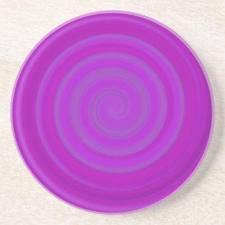 紫色のプラムのレトロキャンデーの渦巻 コースター
