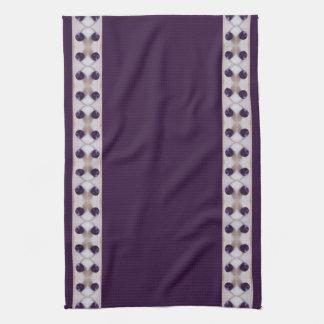 紫色のプラム キッチンタオル