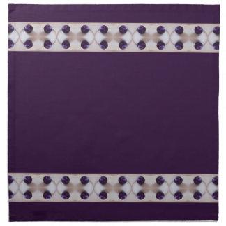 紫色のプラム ナプキンクロス