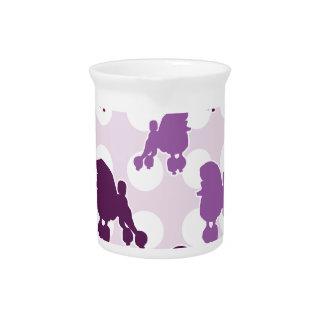 紫色のプードルの水玉模様 ピッチャー
