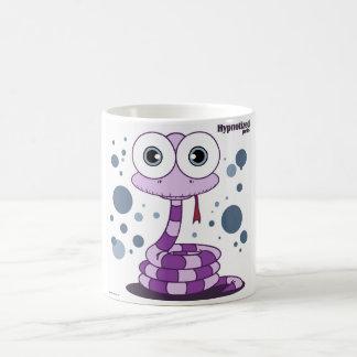 紫色のヘビの白11のozのクラシックで白いマグ コーヒーマグカップ