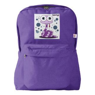 紫色のヘビの™のバックパック、アメジスト AMERICAN APPAREL™バックパック
