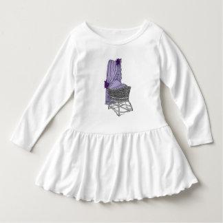 紫色のベビーのBassinet ドレス