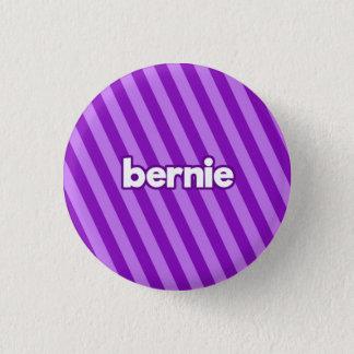 紫色のベルニー 3.2CM 丸型バッジ