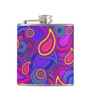 紫色のペイズリーパターン フラスク