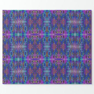 紫色のペイズリーパターン ラッピングペーパー