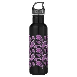 紫色のペイズリーパターン-新しい2 ウォーターボトル