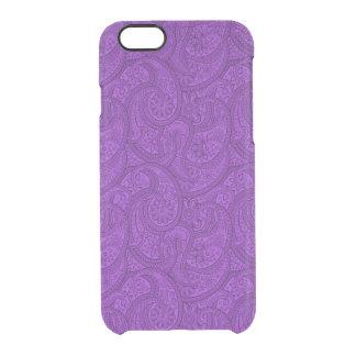 紫色のペイズリー クリアiPhone 6/6Sケース