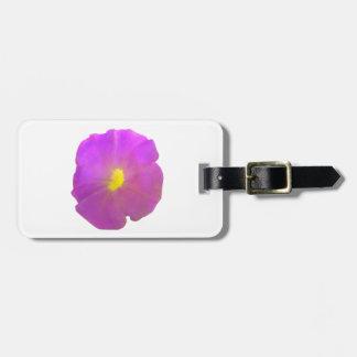 紫色のペチュニアのカスタムな荷物のラベル ラゲッジタグ