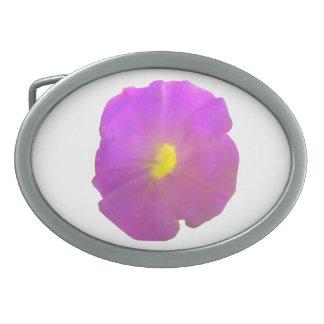 紫色のペチュニアのベルトの留め金 卵形バックル