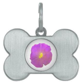 紫色のペチュニアのペットタグ ペットネームタグ