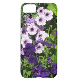 紫色のペチュニアのiPhone 5の箱 iPhone5Cケース