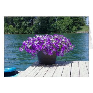 紫色のペチュニアは感謝していしています ノートカード