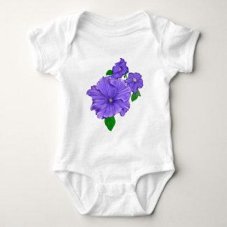 紫色のペチュニア ベビーボディスーツ