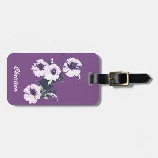紫色のペチュニア ラゲッジタグ