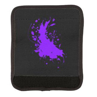 紫色のペンキの(ばちゃばちゃ)跳ねるのラゲージハンドルラップ ラゲッジ ハンドルラップ