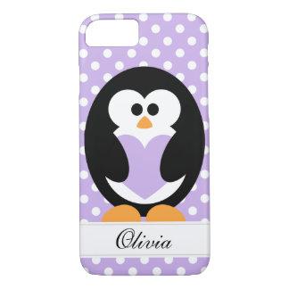 紫色のペンギン愛 iPhone 8/7ケース