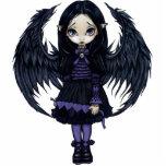 紫色のペーパーハートのゴシック様式妖精のフォトスカルプチャー