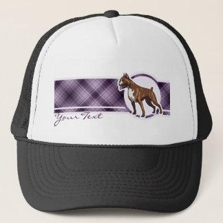 紫色のボクサー キャップ