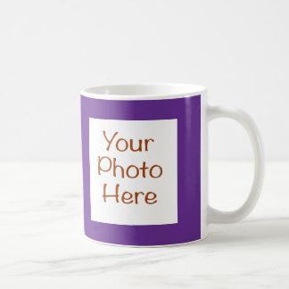 紫色のマグのあなたの写真 コーヒーマグカップ