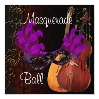紫色のマスクの楽器の仮面舞踏会I カード