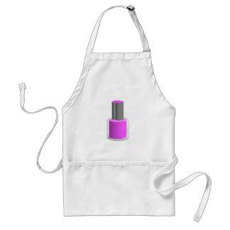 紫色のマニキュア スタンダードエプロン