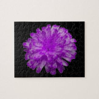紫色のマリーゴールドのパズル ジグソーパズル