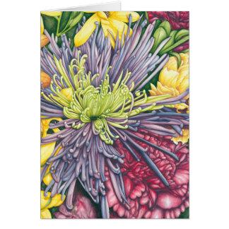 紫色のミイラおよびデイジーのメッセージカード ノートカード